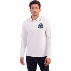 Koszulka polo w kolorze białym. Białe koszulki polo marki Polo Club Men, m, z haftami, z bawełny. W wyprzedaży za 217,95 zł.