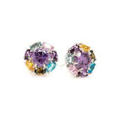 Biżuteria i zegarki: Srebrne kolczyki z kryształami
