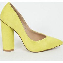 Public Desire - Czółenka. Szare buty ślubne damskie Public Desire, z materiału, na obcasie. W wyprzedaży za 99,90 zł.