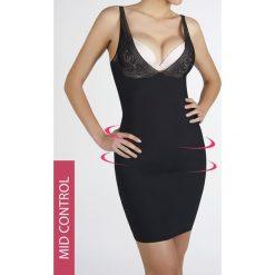 Sukienka wyszczuplająca Lejra. Czarne sukienki koronkowe marki Astratex, z dekoltem na plecach. Za 126,99 zł.