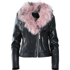 Czarno-Różowa Kurtka Only In My Dreams. Czarne kurtki damskie Born2be, na zimę, l, ze skóry. Za 144,99 zł.