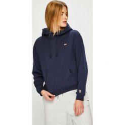 Tommy Jeans - Bluza. Szare bluzy z kapturem damskie Tommy Jeans, l, z bawełny. Za 359,90 zł.
