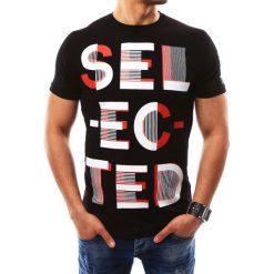 T-shirty męskie z nadrukiem: T-shirt męski z nadrukiem czarny (rx2290)