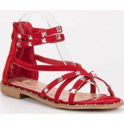 Sandały damskie: YSABEL sandały na suwak czerwone