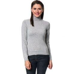Golfy damskie: Sweter w kolorze szarym