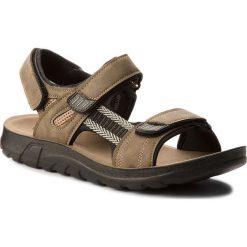 Sandały LANETTI - MS17009-1 Khaki. Brązowe sandały męskie skórzane Lanetti. W wyprzedaży za 69,99 zł.