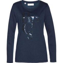 Bluza dresowa bonprix ciemnoniebieski. Niebieskie bluzy damskie bonprix, z dresówki. Za 69,99 zł.