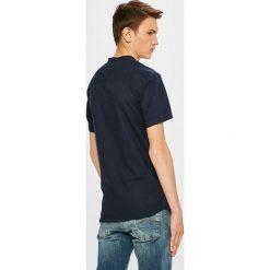 Premium by Jack&Jones - Koszula. Szare koszule męskie na spinki marki Premium by Jack&Jones, l, z bawełny, z włoskim kołnierzykiem, z długim rękawem. W wyprzedaży za 139,90 zł.
