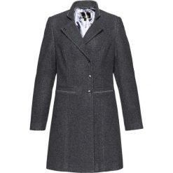 Płaszcze damskie: Krótki płaszcz żakietowy bonprix antracytowy melanż