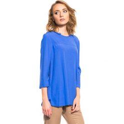 Bluzki, topy, tuniki: Bluzka z rękawem 3/4 oraz z ozdobnym zamkiem z tyłu BIALCON