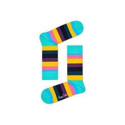 Skarpetki Happy Socks STR01-7005. Brązowe skarpetki męskie Happy Socks, z bawełny. Za 24,43 zł.