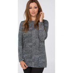 Bluzy rozpinane damskie: Bluza z monochromatycznym wzorem