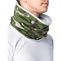 KOMIN MĘSKI A063 - KHAKI/MORO. Brązowe szaliki męskie Ombre Clothing, moro, z bawełny. Za 14,99 zł.
