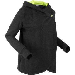 Bluza rozpinana, długi rękaw, z kolekcji Maite Kelly bonprix czarny melanż. Czarne bluzy rozpinane damskie bonprix, melanż, z długim rękawem, długie. Za 109,99 zł.
