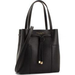 Torebka TORY BURCH - Block-T Small Bucket Bag 50224 Black 001. Czarne torebki worki Tory Burch, ze skóry. W wyprzedaży za 1149,00 zł.