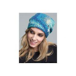 Czapka hauer KRAFF BLUE SKY hand made. Czarne czapki zimowe damskie marki Hauer, z nadrukiem, z polaru. Za 109,00 zł.
