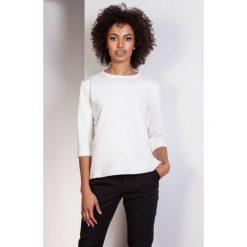 Luźna bluzka-frak, BLU140 ecru. Szare bluzki nietoperze Pakamera, biznesowe. Za 119,00 zł.