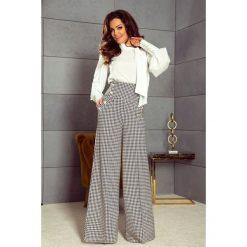 Eleganckie spodnie z wysokim stanem pepitka. Szare spodnie z wysokim stanem Bergamo. Za 259,99 zł.