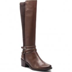 Kozaki CAPRICE - 9-25514-21 Dk Brown Nappa 337. Brązowe buty zimowe damskie Caprice, z materiału, na obcasie. W wyprzedaży za 339,00 zł.