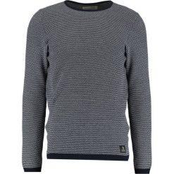 Swetry klasyczne męskie: TOM TAILOR DENIM MINISTRUCTURE CREWNECK Sweter night sky blue