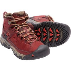 Buty trekkingowe damskie: Keen Buty trekkingowe damskie TARGHEE EXP MID WP kolor czerwono-czarny r. 38.5 (TARGHEXPMW-WN-SYTS)