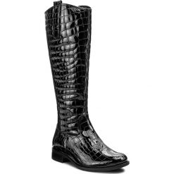 Kozaki GABOR - 71.646.97 Schwarz. Czarne buty zimowe damskie Gabor, z materiału. W wyprzedaży za 499,00 zł.
