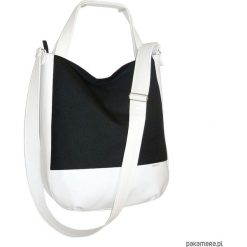Shopper bag damskie: 5696, ankate, duża czarna torba, czarny worek