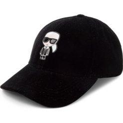 Czapka z daszkiem KARL LAGERFELD - 86KW3411 Black. Czarne czapki z daszkiem damskie marki INOVIK, z elastanu. Za 339,00 zł.