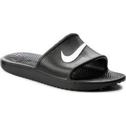 Klapki NIKE - Kawa Shower 832655 001 Black/White. Czarne klapki męskie Nike, z tworzywa sztucznego. Za 89,00 zł.