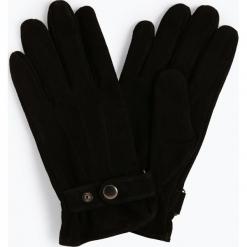 James - Skórzane rękawiczki męskie, czarny. Czarne rękawiczki męskie James, w paski, ze skóry. Za 179,95 zł.