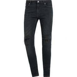 Topman SPRAY ON STRIPS Jeans Skinny Fit blue. Niebieskie rurki męskie Topman. W wyprzedaży za 199,20 zł.