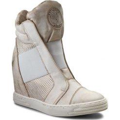 Sneakersy ROBERTO - 528/D B. Złoto. Białe sneakersy damskie Roberto, z materiału. W wyprzedaży za 259,00 zł.