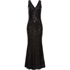 Długie sukienki: Sukienka z cekinami bonprix czarny