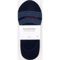 Kapcie męskie: 3 pack skarpetek stopek – Niebieski