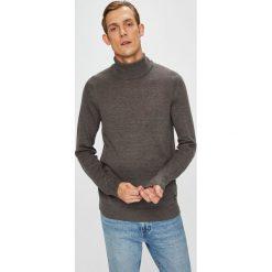 Blend - Sweter. Brązowe golfy męskie marki Blend, l, z bawełny, bez kaptura. W wyprzedaży za 89,90 zł.
