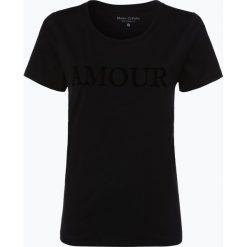 Marc O'Polo - T-shirt damski, czarny. Czarne t-shirty damskie Marc O'Polo, m, z nadrukiem, z bawełny, polo. Za 139,95 zł.