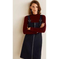 Mango - Sukienka Alpi. Sukienki małe czarne marki Mango, na co dzień, l, z tkaniny, casualowe, z dekoltem halter, na ramiączkach, rozkloszowane. Za 119,90 zł.