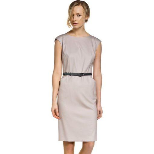 0a09eca5ae Sukienka w kolorze beżowym - Brązowe sukienki damskie Deni Cler