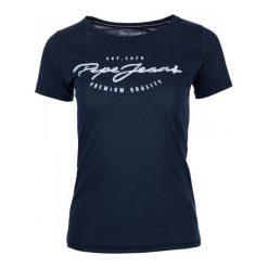 Pepe Jeans T-Shirt Damski Charleen Xs Ciemny Niebieski. Niebieskie t-shirty damskie marki Pepe Jeans, xs, z jeansu, z kontrastowym kołnierzykiem. W wyprzedaży za 109,00 zł.