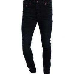 Topman WASHED Jeans Skinny Fit washed black. Czarne rurki męskie Topman. Za 169,00 zł.