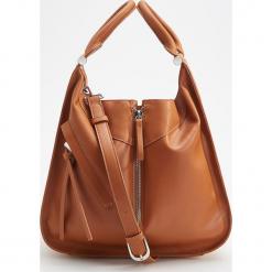 Torba z ozdobnym zamkiem - Pomarańczo. Brązowe torebki klasyczne damskie marki Reserved. Za 149,99 zł.