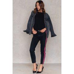 Spodnie z wysokim stanem: Gestuz Jeansy Ane - Black,Multicolor