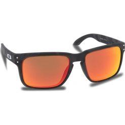 Okulary przeciwsłoneczne OAKLEY - Holbrook OO9102-E955 Black Camo/Prizm Ruby. Czarne okulary przeciwsłoneczne męskie aviatory Oakley, z tworzywa sztucznego. W wyprzedaży za 479,00 zł.
