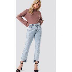 Golfy damskie: NA-KD Sweter z golfem i szerokim rękawem – Pink