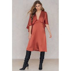 Sukienki hiszpanki: True Decadence Sukienka z falbanką – Brown,Orange,Copper