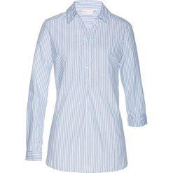 Bluzki damskie: Bluzka bonprix jasnoniebiesko-biały w paski