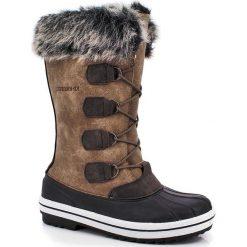 """Buty zimowe damskie: Kozaki """"Clara"""" w kolorze brązowym"""