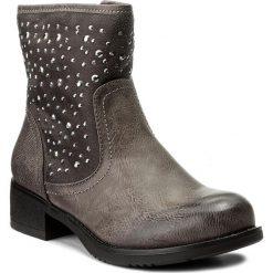 Botki JENNY FAIRY - WS16307-11 Szary. Szare buty zimowe damskie Jenny Fairy, z materiału, na obcasie. Za 119,99 zł.