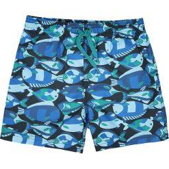 Spodenki kąpielowe z nadrukiem ryb 3-12 lat. Niebieskie kąpielówki chłopięce La Redoute Collections, z nadrukiem. Za 52,88 zł.