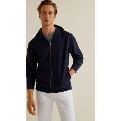 Mango Man - Bluza Planet. Szare bluzy męskie rozpinane marki Mango Man, l, z bawełny, z kapturem. W wyprzedaży za 89,90 zł.